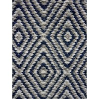 Bayliss Rugs Herman Diamond Navy Hand Woven Wool 160cm x 230cm