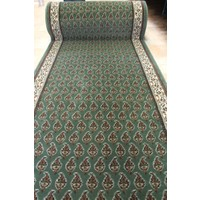 Adrian HALL RUNNER Wool 90cm wide Green