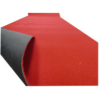 Party Red Rubber Backed Runner 135cm Wide