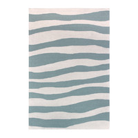 Colorscope Rugs Outdoor Anywhere Waves Acrylic rug 155 x 225cm Aqua Blue