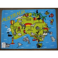 Children's Rug Play mat Aussie Map 94cm x 133cm