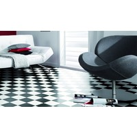 Gerflor Black and White Sheet VINYL FLOORING 4m Wide