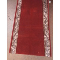 Italtex ESTATE Red Runner HALLWAY Border Wool 67cm wide per metre
