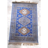 Chiraz Art Silk Floor Rug Persian Look Mat Blue New Rugs Mats 100cmx137cm 9379-9