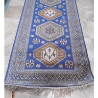 Persian Look Chiraz Art Silk Blue Rug Hall Runner 68x230cm 9379-9