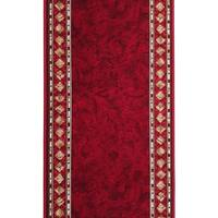Cheops Rubber Backed Hall Runner 67cm wide Red