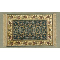 Chiraz Art Silk Hall Rug GREEN Hallway 68cmx105cm 5752-45