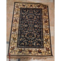 Chiraz Art Silk Hall Rug GREEN Hallway 100cm x 137cm 5752-45