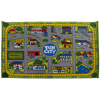 Children's Rug - Fun City Play mat Activity Car 100cm x 150cm