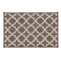 Indoor Seaspray mat 57cm x 90cm Mat Rubber Back Silver Brown