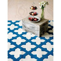 The Rug Collection Rug NZ WOOL Blue 160x230cm  EMPIRE