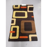 Brintons Axminister Wool Blend HallwayRunner RETRO Brown 69cm wide
