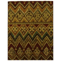 Italtex Eclaire Gold and Red Designer Rug 160cm x 230cm