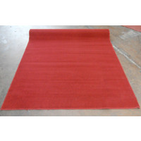 Synthetic Overlocked Rug Poly 180cm x 245cm Deep Red