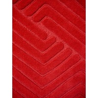 The RUG Collection Domino NZ Wool 160cm x 230cm Ruby Red