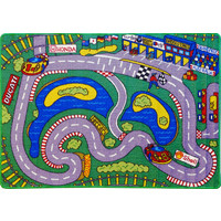 Children's Activity Rug Play mat Aussie Grand Prix 94cm x 133cm