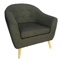Trump Tub Chair - Grey Fabric