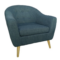 Trump Tub Chair - Blue Fabric