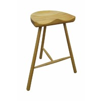 Tractor Timber Bar Stool - Tripod Legs Natural