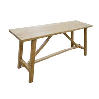 Recycled Elm Timber Rustic Hall Table
