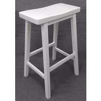 Zen Timber Bar Stool 680mm White - Manufacturer's defects