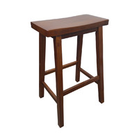 Zen Timber Bar Stool 680mm Antique Maple Wood