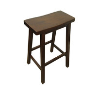 Zen Timber Bar Stool 680mm Walnut Wood