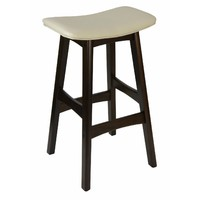 Gangnam Timber Bar Stool - Chocolate + Cream