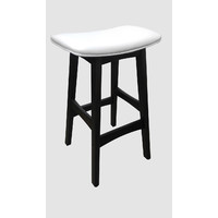 Gangnam Timber Bar Stool - Chocolate + White