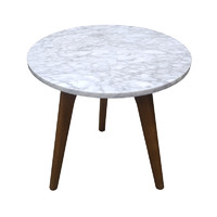 Scandi Round Marble Side / Coffee Table