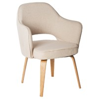 Kim Tub Chair - Beige Fabric