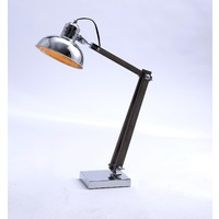 New Oriental Table Lamp with Chromed Bowl Shape Shade 75020