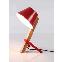 New Oriental Table Lamp with Red Metal Shade 75052