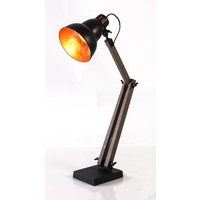 New Oriental Table Lamp with Black Gourd Shade 75032