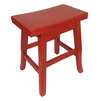 Pagoda Timber Dining Stool 450mm Red