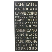 Decorative Wall Sign Picture Coffee 970mm x 460mm