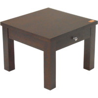 Swan Solid Timber Lamp TABLE  Chocolate