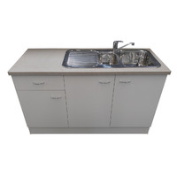 Seytim Kitchen Sink, Mixer, Cabinet White Package 1500mm wide