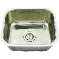 CM6 Inset Single Bowl 25L Small Bar Sink 430mm x 375mm x 180mm