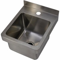 "Cafe Hand Wall Basin Sink Stainless Steel ""Council Approved"""