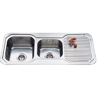Unique Ariette 1080 1&3/4 DOUBLE BOWL KITCHEN SINK 1080mm LHB