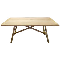 Cascade Outdoor Dining Table Garuga Timber 1800mm x 900mm
