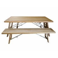 Cascade Outdoor Trestle Folding Leg Dining Table and Bench Setting 1800mm x 900mm
