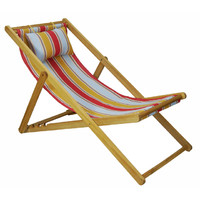 Deck Chair with Pillow Timber Folding Outdoor Structure Lime