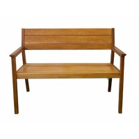 Capri Love Seat Timber Outdoor Park Bench 1200mm