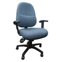 BC Lumbar Office Chair with Arms Access Denim Blue