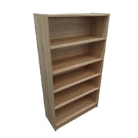 Riteway 5 Tier Natural Oak Bookcase 1495mm x 830mm x 336mm