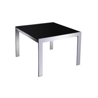 Rapidline Glass and Chrome Coffee Table 600mm x 600mm Square