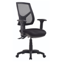 RIO Office Chair High Back Metro Black with Arms RIO-HC-MB
