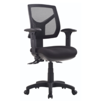 RIO Office Chair Medium Back Metro Black with Arms RIO-LC-MB